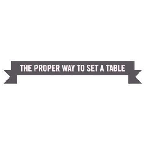 Proper Way To Set Table by Musely