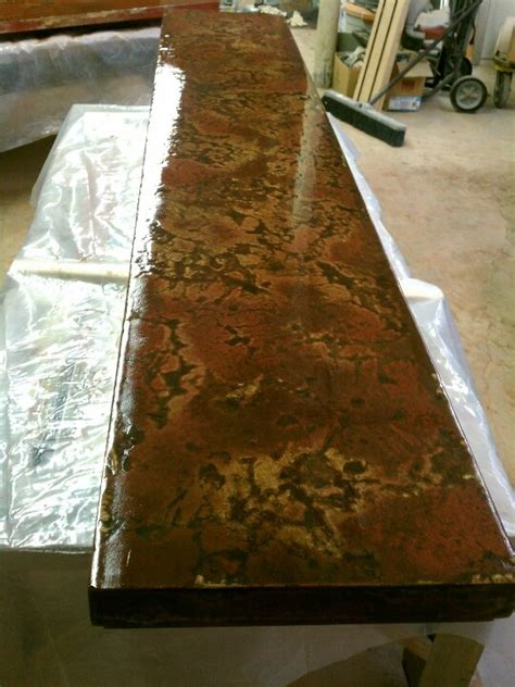 concrete bar tops concrete bar top in process home ideas pinterest bar