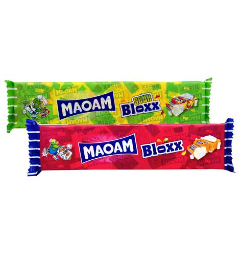 The Sour Chews 220g gunz maoam bloxx chewing classic sour 220g 10x22g counter display