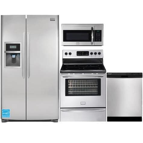 frigidaire kitchen appliance packages frigidaire dgus2645 stainless steel complete kitchen