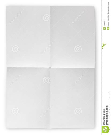 Folded Sheet Of Paper - folded blank sheet of paper stock image image 31344267