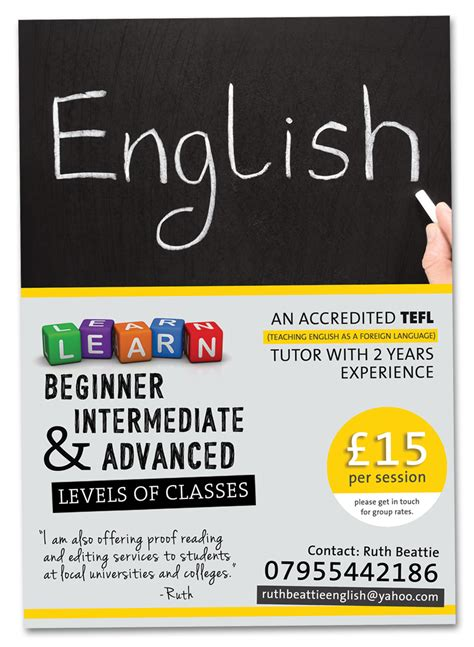 online tutorial in english bold serious tutoring flyer design for a company by