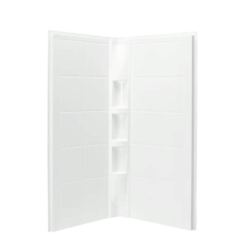 Lowes Shower Wall Panels by Shop Sterling Shower Wall Surround Corner Wall Panel