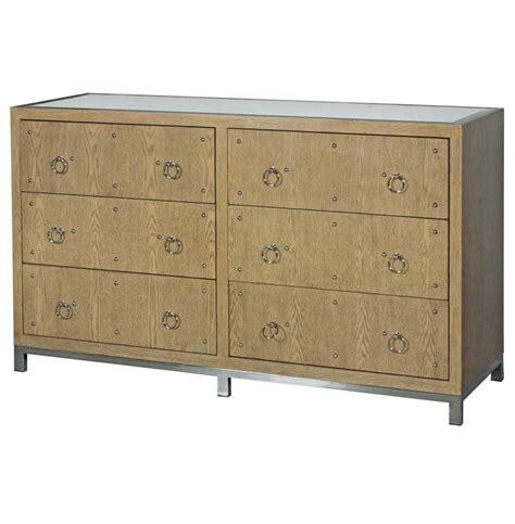 Limed Oak Dresser by Harley Regency Studded Limed Oak Mirror Dresser