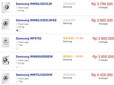 Mesin Cuci Samsung Bebas Di Jogja daftar harga mesin cuci terbaru berbagai merk dan jenis di