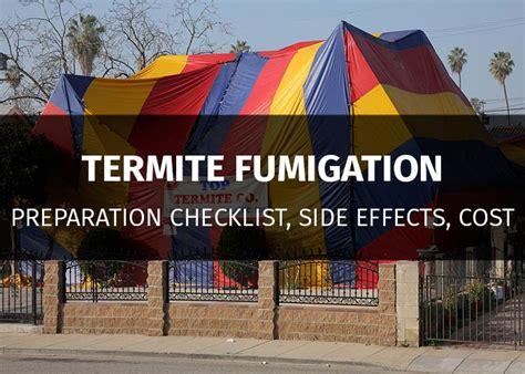 termite tenting preparation fumigation checklist side