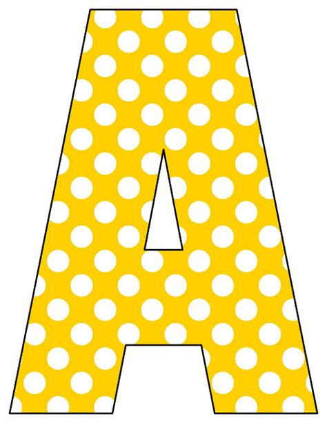 printable yellow letters printable cut out letters a z