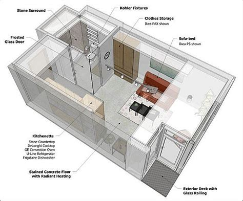 micro studio plan tiny spaces