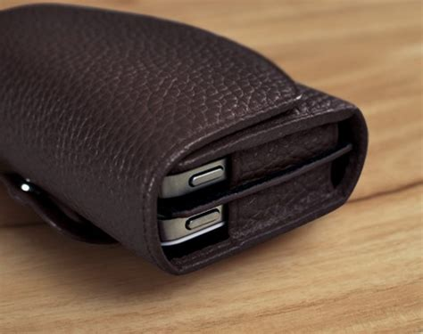 twoo mobile decker custom handcrafted dual phone leather