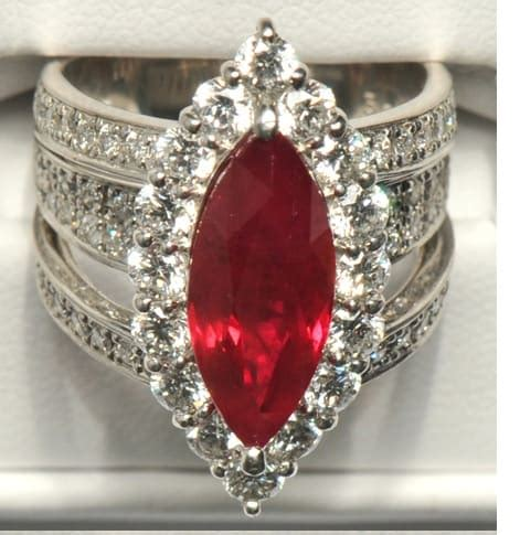 vintage ruby engagement ring living on the cheap