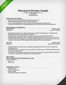 Pharmacists Resume by Sle Of Pharmacy Technician Resume Sle Resumes