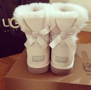 Light Pink Uggs White Bow Ugg Boots Pictures Photos And Images For