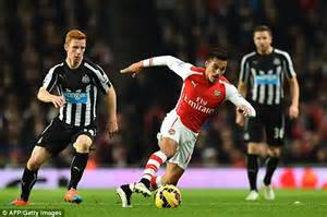 alexis sanchez lost possession arsenal 4 1 newcastle player ratings majestic olivier