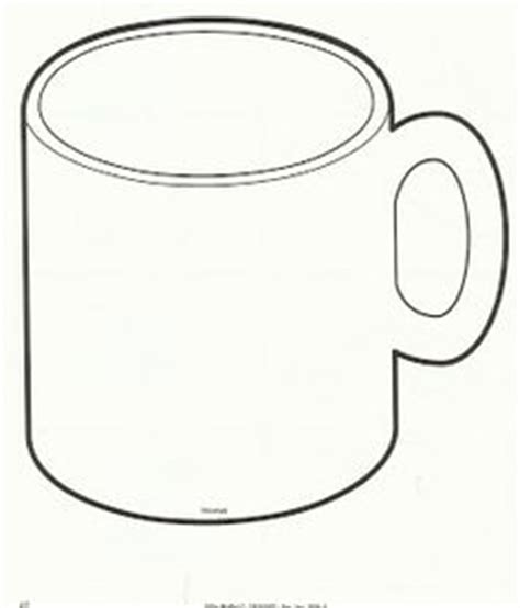 Cup Clipart Coloring Pencil And In Color Cup Clipart Coloring Coffee Mug Template