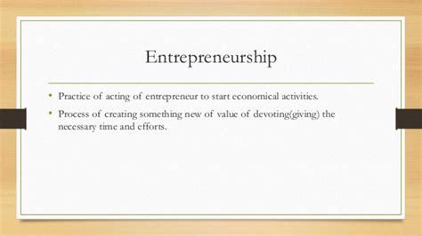 Mba Entrepreneurship Meaning by Entrepreneurship