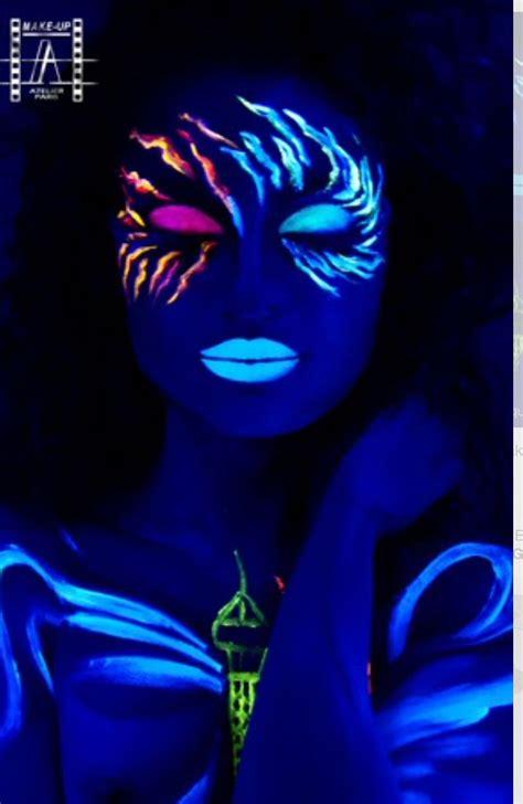 glow   dark makeup pintura de  neon maquillaje