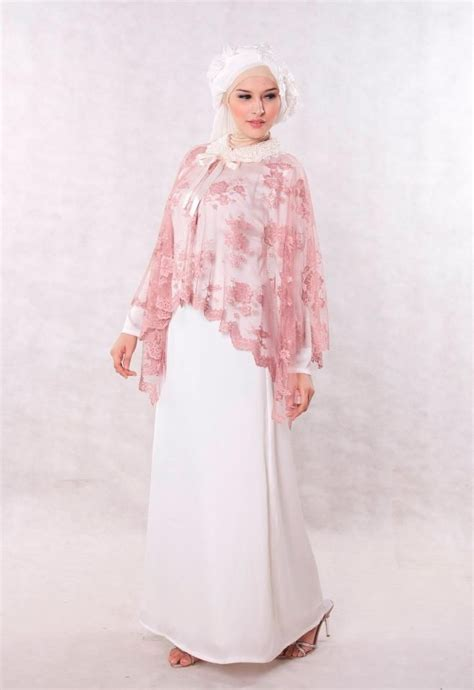 Baju Sweet baju pesta muslim broken white sweet dress shoping models