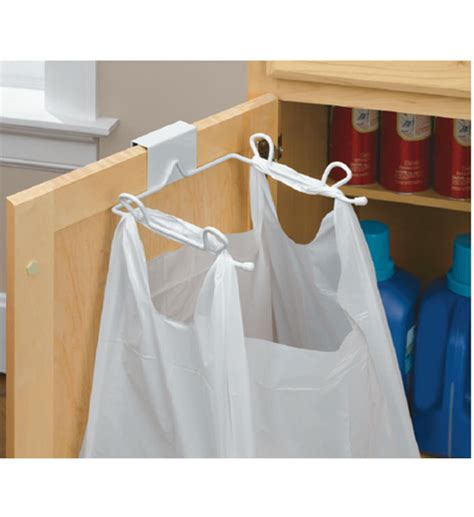 Grocery Bag Holder Over The Cabinet Door In Plastic Bag Cabinet Door Trash Bag Holder