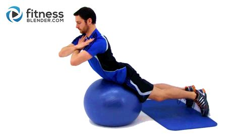 total physioball workout physioball exercises fitness blender