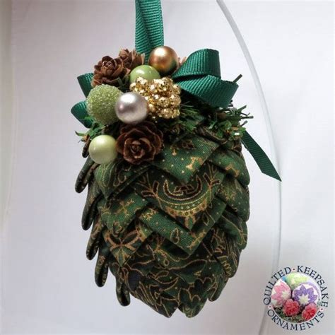 quilted ornaments pine cones and ornaments to