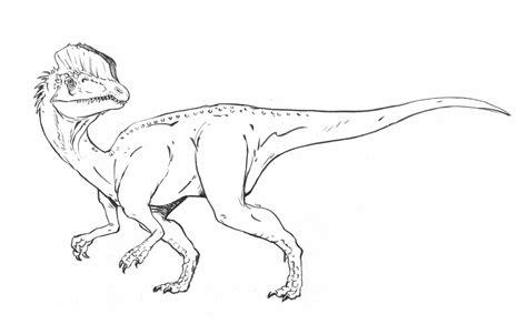 dilophosaurus para artel dinosaurios para colorear