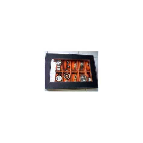 kotak tempat jam tangan bludru box isi 12 grosir display
