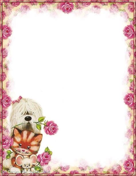 free printable decorative note cards 318 best images about borders fun pages on pinterest