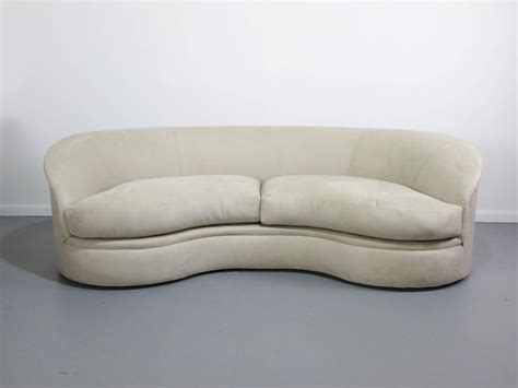 kidney sofa biomorphic kidney bean shaped sofa by vladimir kagan for