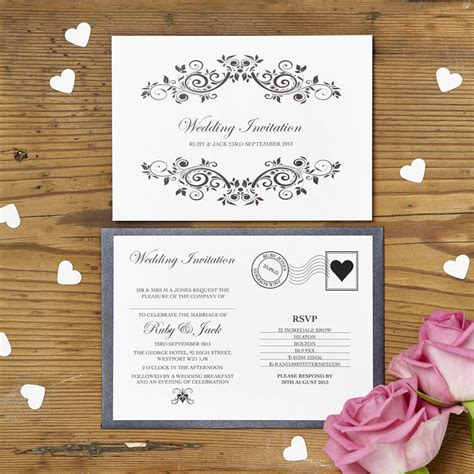 Postcard Wedding Invitations by Personalised Postcard Wedding Invitation By Intwine
