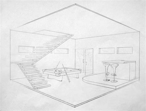 Drawing 2 Point Perspective by Living Room Living Room 2 Point Perspective 2 Point