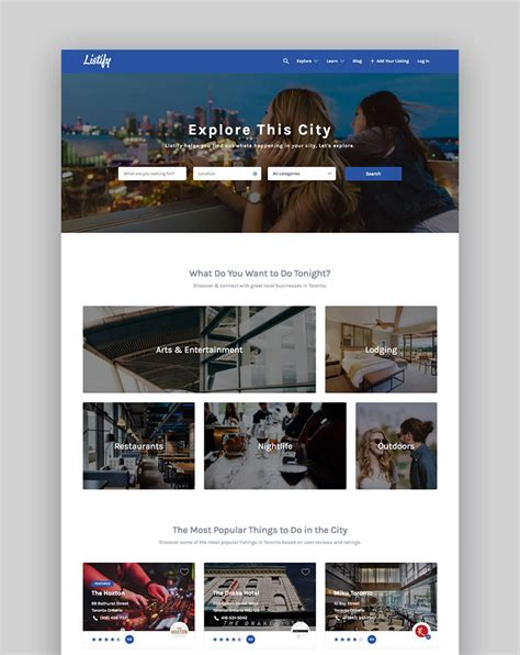 business listing website template 20 best directory themes to make business websites 2017