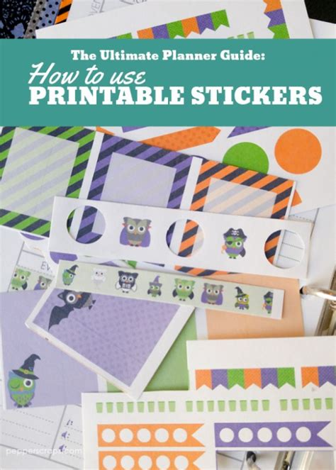 How To Use Printable Planner Stickers | the ultimate planner guide how to use printable planner