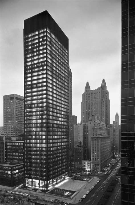 ludwig mies van der rohe the seagram building new york exhibition photographs by ezra stoller daily icon