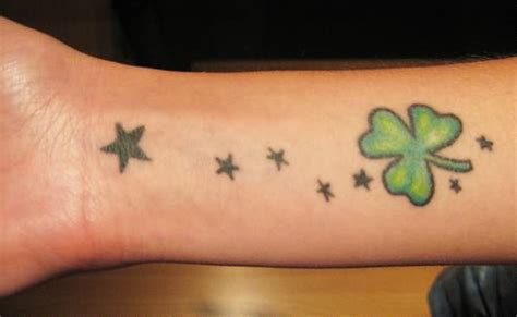 four leaf clover wrist tattoos and clover leaf on wrist