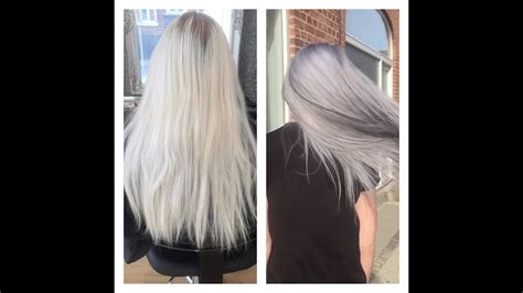 goldwell colorance from blond to grey with olaplex and goldwell