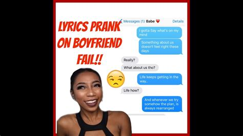 song for bf song lyrics prank on boyfriend quot i gotta go my own way