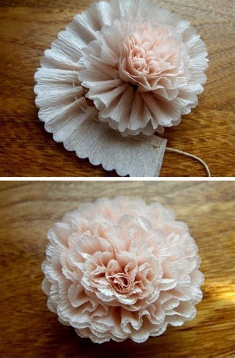 Flower With Crepe Paper - crepe paper flowers craft ideas