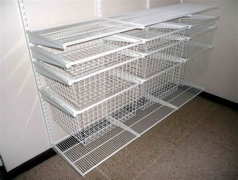 Wire Shelves Closet by 1000 Images About Organization On Fabric Storage Shelves And Storage Bins