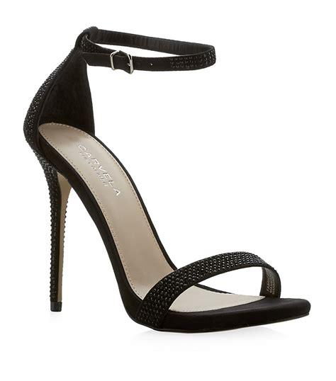carvela kurt geiger glacier sandals in black lyst