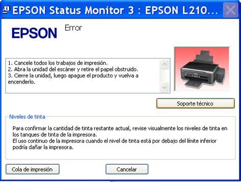 reset l355 yoreparo reseteo de impresora epson l210 error fin de vida