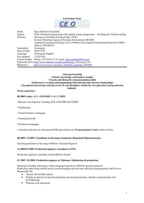 Cv Consulting Hamilton Curriculum Vitae Business