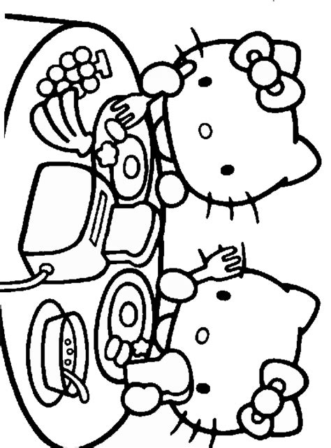 hello kitty baking coloring pages free hello kitty baking a cake coloring pages