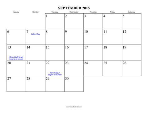 Calendar For Sept 2015 September 2015 Calendar