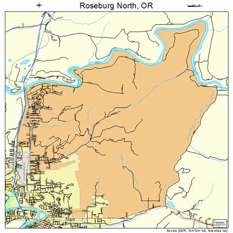 roseburg oregon map roseburg oregon map 4163660