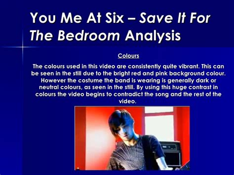 you me at six save it for the bedroom you me at six save it for the bedroom analysis