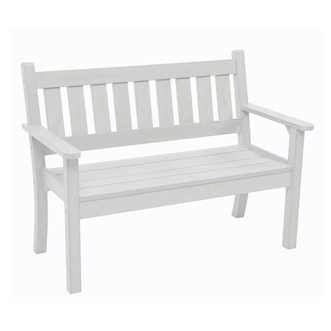 white bench seats carefree 2 seat bench in white garden benches cuckooland
