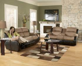 livingroom furnitures ashley furniture presley 31501 cocoa living room set