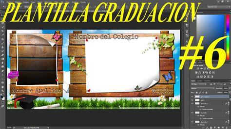 plantillas psd graduacion diplomas fotos grupales marcos plantilla psd graduaci 243 n con estilo pizarra de madera