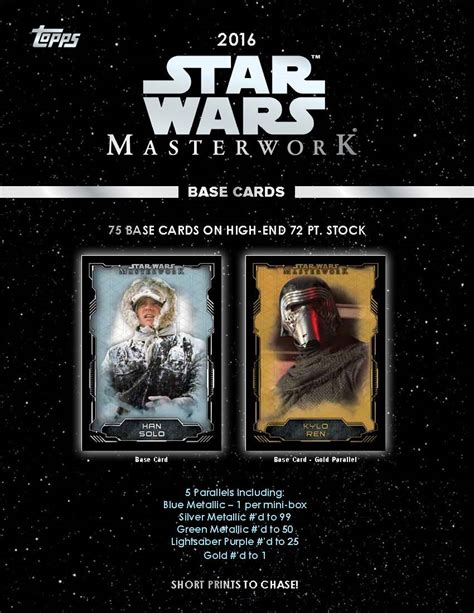 wars cards 2016 topps wars masterwork trading cards