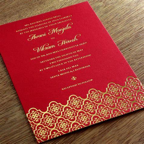 Wedding Invitations Indian by Modern Indian Wedding Invitation Www Pixshark